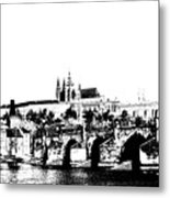 Prague Castle And Charles Bridge Metal Print