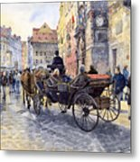 Prague Old Town Hall And Astronomical Clock Metal Print