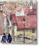 Prague Zamecky Schody Castle Steps Metal Print