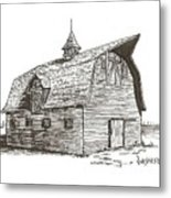 Prairie Barn Metal Print by Rick Stoesz