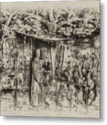 Prayer Meeting At Jamestown Metal Print