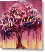 Prayer Tree II Metal Print by Janet Chui