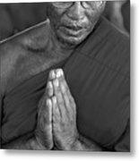 Praying Monk Metal Print