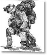Praying Soldier Metal Print