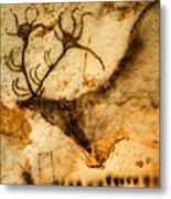 Prehistoric Artists Painted A Red Deer Metal Print by Sisse Brimberg
