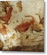 Prehistoric Artists Painted Robust Metal Print