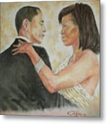 President Obama And First Lady Metal Print by G Cuffia