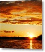 Pretty Orange Sky Metal Print