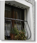 Pretty Window Metal Print