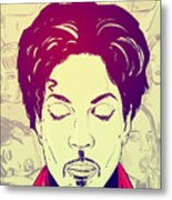 Prince Metal Print by Giuseppe Cristiano