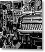 Printing Press Metal Print by Kenneth Mucke
