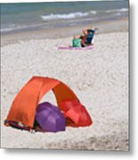 Privacy For Two At The Beach Metal Print