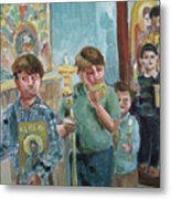 Procession With Icons Metal Print