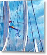 Profile Of A Sailboat Metal Print