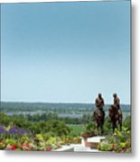 Prophets Last Ride  Bronze Monument Of Hyrum And Joseph Smith In Nauvoo Illinois Metal Print