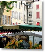 Provence Market Day Metal Print