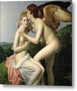 Psyche Receiving The First Kiss Of Cupid Metal Print