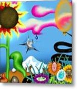 Psychedelic Dreamscape I Metal Print