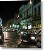Puebla At Night 1 Metal Print