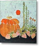 Pumpkin And Asparagus Metal Print