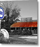Pure Gas Station Metal Print