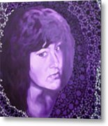 Purple And Lace Metal Print