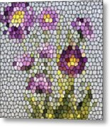 Purple Asters II  Metal Print