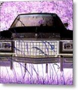 Purple Cadillac Metal Print