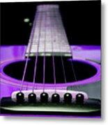 Purple Guitar 15 Metal Print