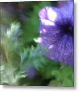 Purple In Monets Garden Metal Print