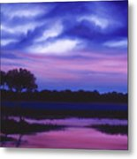 Purple Landscape Or Jean's Clearing Metal Print