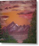 Purple Mountain Metal Print