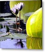 Purple Petals And Glass Metal Print