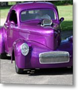 Purple Rod Metal Print