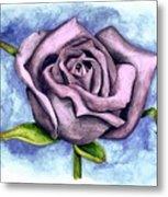 Purple Rose Metal Print by Robert Morin