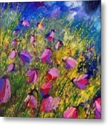Purple Wild Flowers  Metal Print