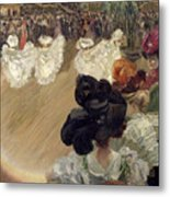 Quadrille At The Bal Tabarin Metal Print by Abel-Truchet