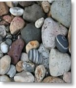 Queen Charlotte Island Stones Metal Print by Sherry Leigh Williams
