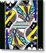 Queen Of Spades - V2 Metal Print