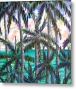 Queen Palm Bay View  Metal Print