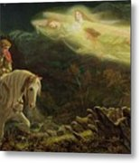 Quest For The Holy Grail Metal Print by Arthur Hughes