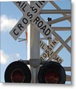 R X R Crossing Metal Print