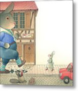 Rabbit Marcus The Great 19 Metal Print
