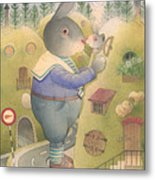 Rabbit Marcus The Great 25 Metal Print