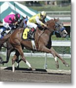Race Horse Number 6 Metal Print
