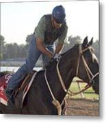 Racehorse At Evangeline Downs Metal Print