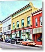 Radford Virginia - Along Main Street Metal Print