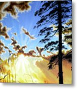 Radiant Reflection Metal Print