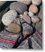 Rag Rugs With Stones And The Dock 3 Metal Print