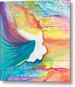 Rainbow Angel Metal Print